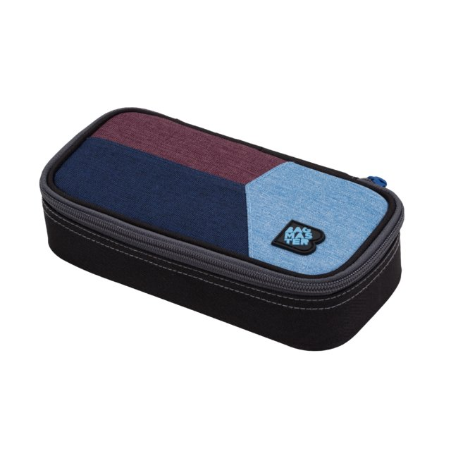 Studentský penál BAGMASTER CASE DIGITAL 20 C BLUE/RED/LIGHT BLUE