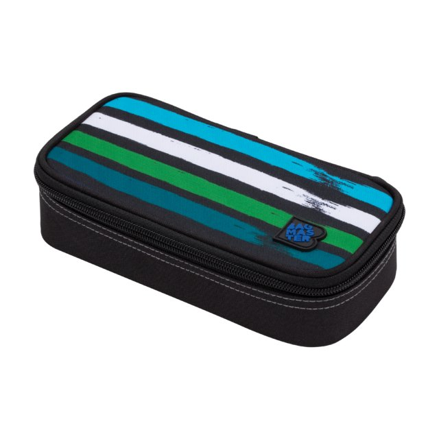 Studentský penál BAGMASTER CASE BAG 20 C BLUE/GREEN/BLACK/WHITE