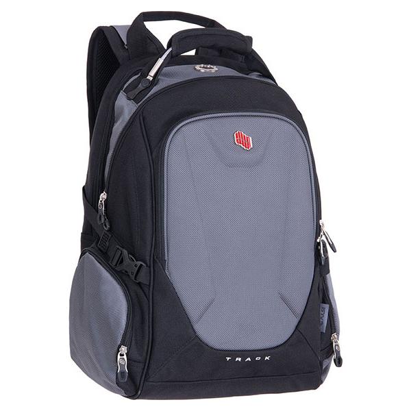 Pulse studentský batoh na laptop Track šedý 6d18fd41b4