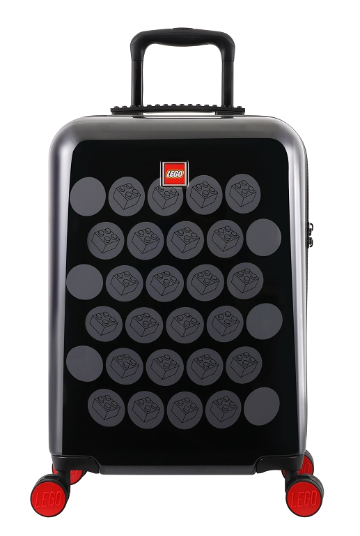 "LEGO Luggage ColourBox Brick Dots 20"" - Černý/Šedý"
