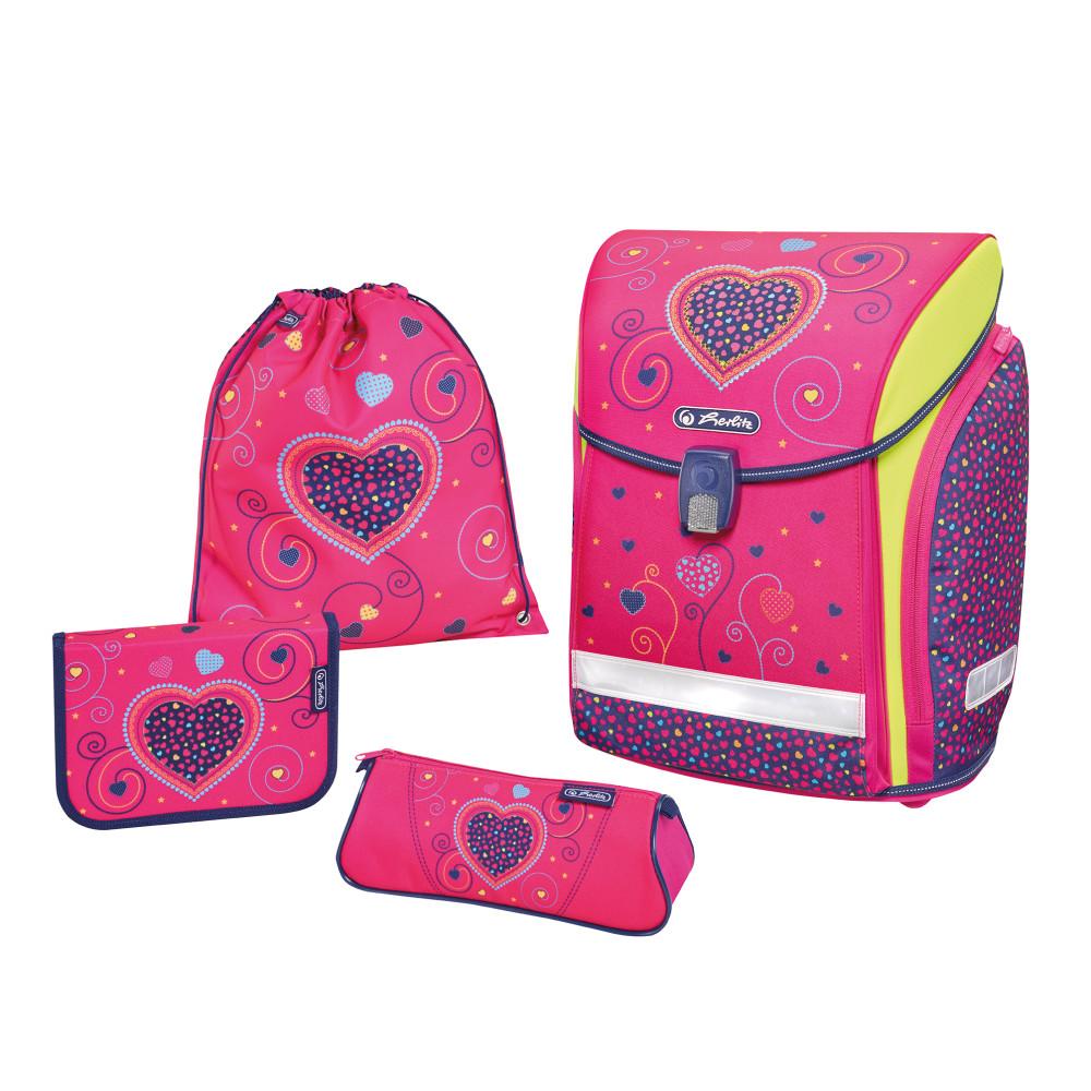 Herlitz školní batoh Midi set srdce růžové 397b8649f4