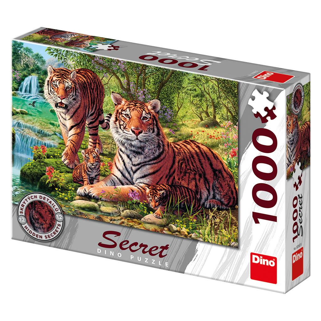 Tygři 1000 secret collection puzzle nové