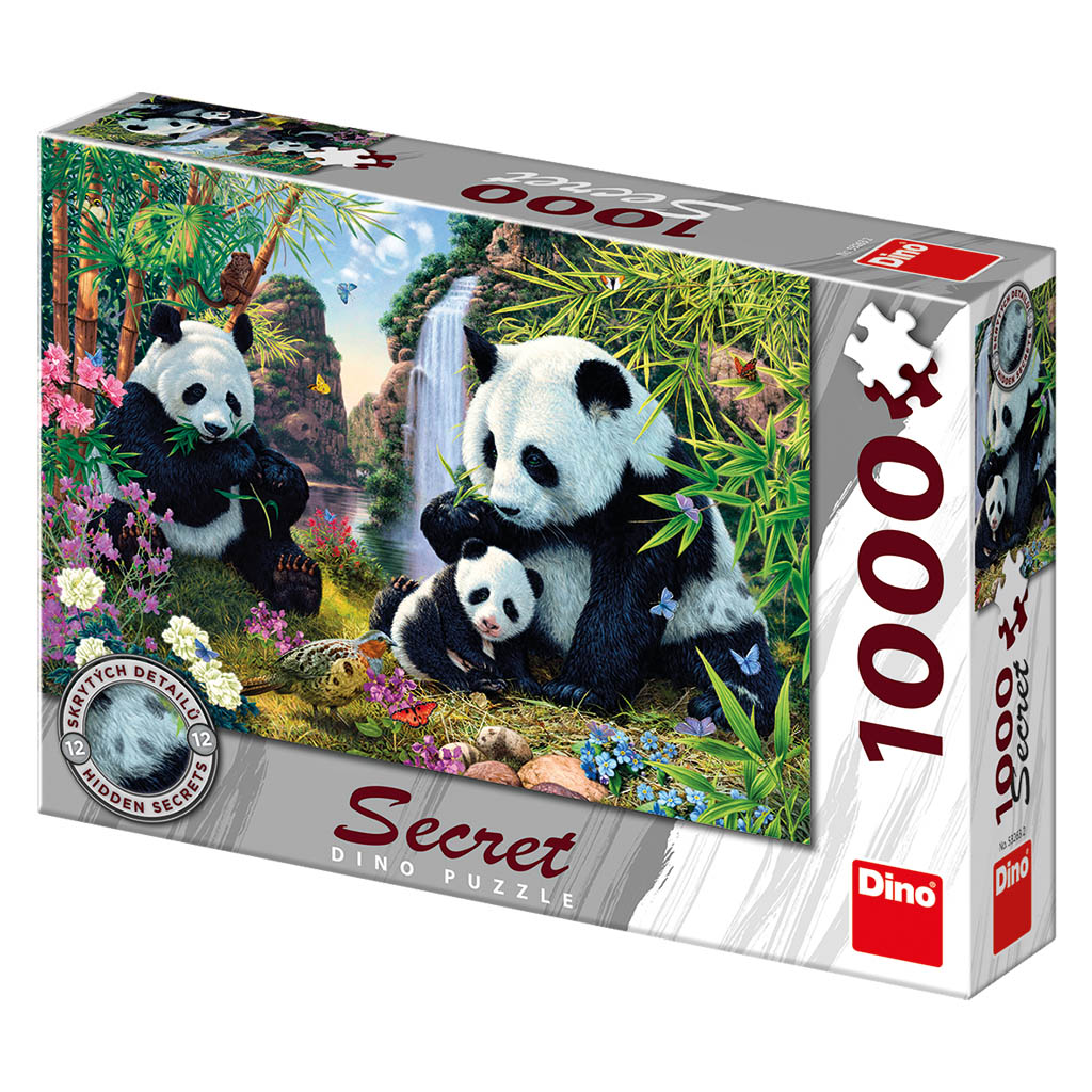 Pandy 1000 secret collection puzzle nové