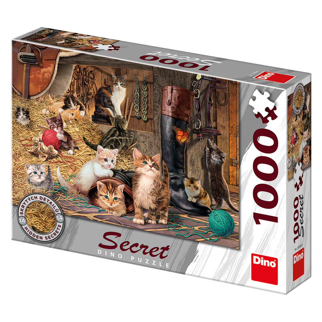 Kočičky 1000 secret collection puzzle nové