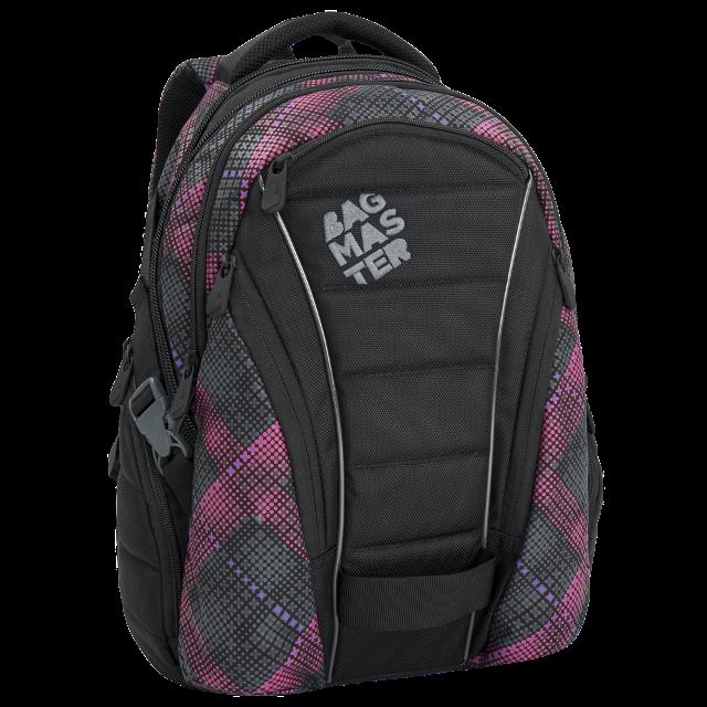 Bagmaster dívčí studentský batoh BAG 6 E BLACK PINK VIOLET 25ec1cbbe4