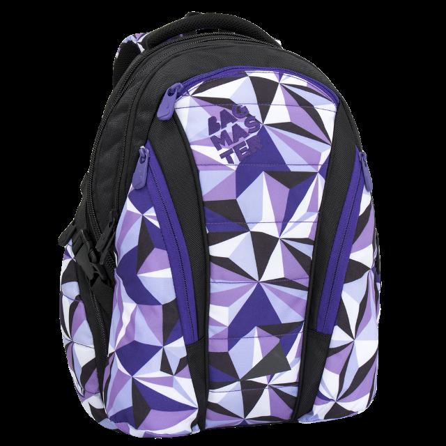 Bagmaster dívčí studentský batoh do školy BAG 6 A BLACK VIOLET d58a0c356a