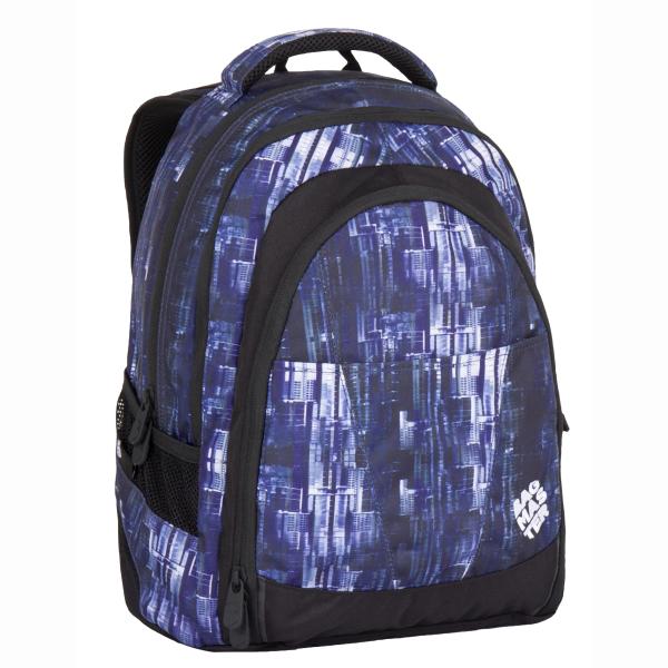 726e2fb601c Bagmaster tříkomorový studentský batoh s polstrovanou kapsou na notebook  15