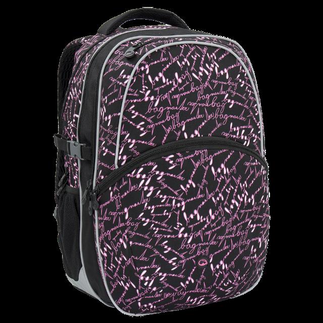 Bagmaster dívčí školní batoh MADISON 6 A BLACK PINK 89f6c23a9d