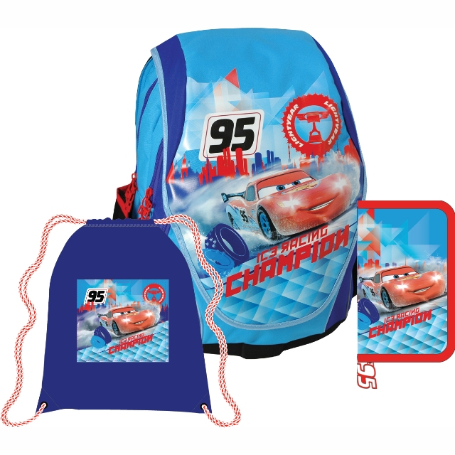 Sun Ce anatomický školní batoh ABB set - Cars (Disney Auta) cbc7905ce0