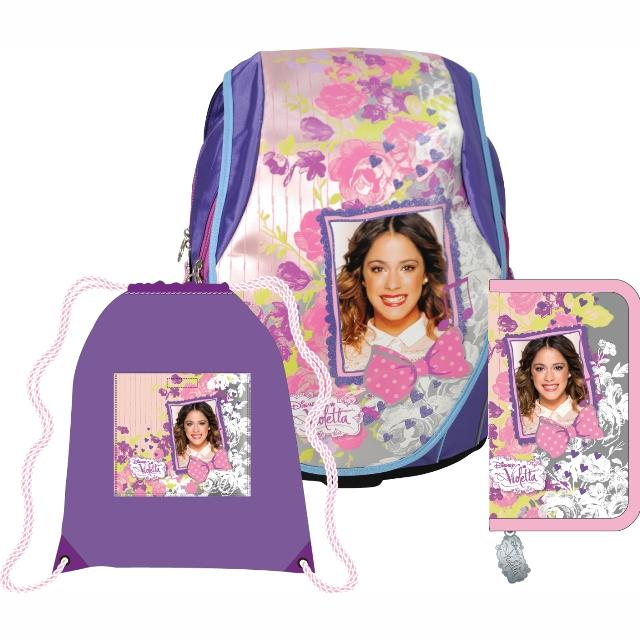 Sun Ce anatomický školní batoh ABB set - Disney Violetta 7781c9cac0