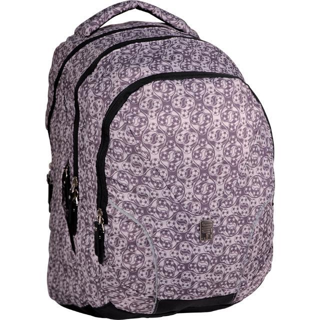 b7a20380372 Sun Ce studentský batoh černo šedý s potiskem fotbal - Sci-fi