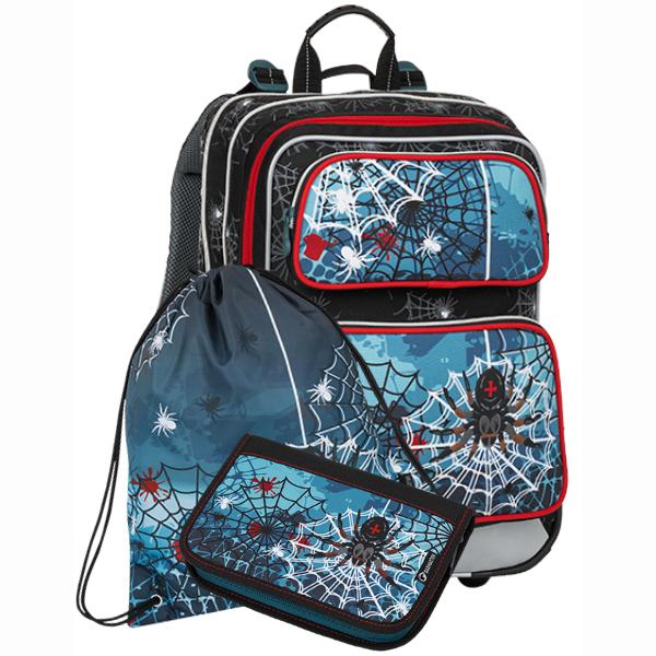Bagmaster tříkomorový školní batoh set - Malý SET GALAXY 8 B ... a24e7c6be2