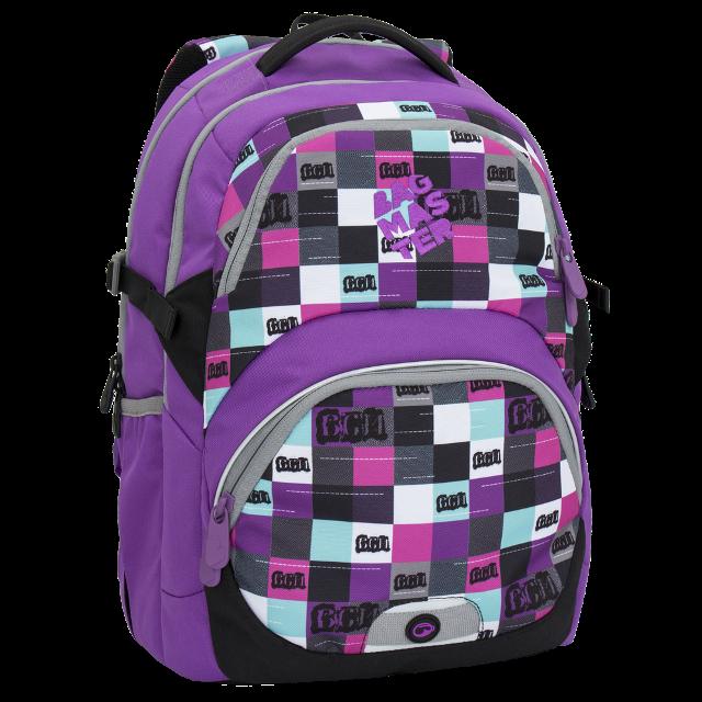 Bagmaster dívčí školní batoh pro třetí třídu THEORY 6 A VIOLET 027e98a3f7