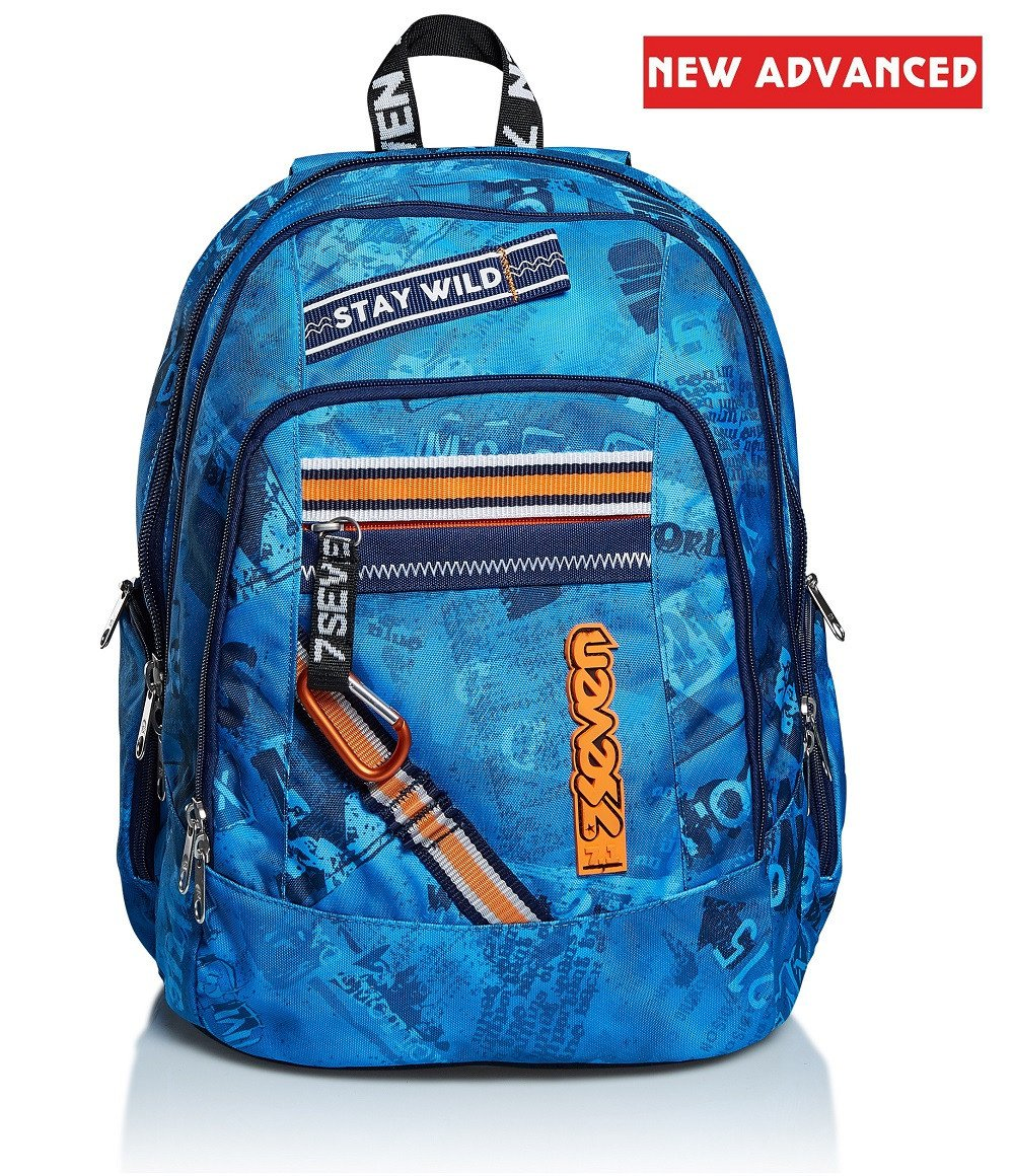 Seven studentský batoh Advanced OCEAN BLUE