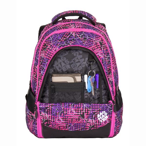 Bagmaster tříkomorový studentský batoh s polstrovanou kapsou na ... 804461c0be