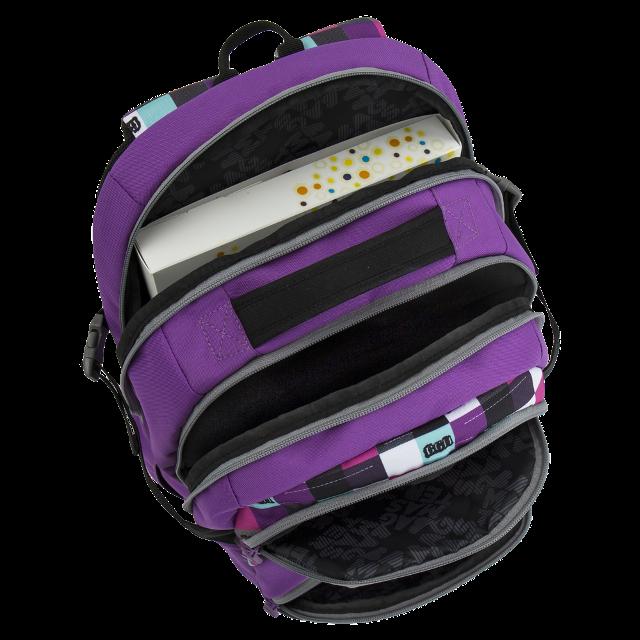 Bagmaster dívčí školní batoh pro třetí třídu THEORY 6 A VIOLET ... 6ebf737eab
