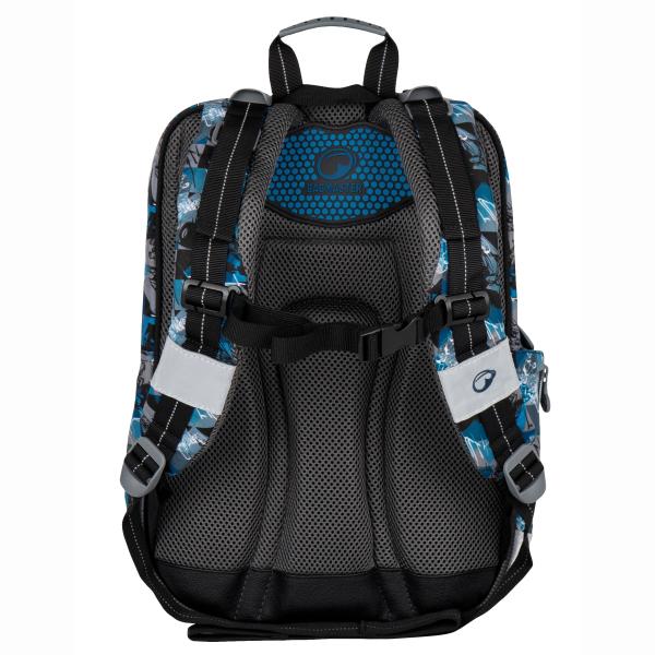 Bagmaster tříkomorový školní batoh - a GALAXY 7 F BLUE BLACK GREY ... 34c9a4c9bb