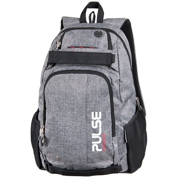 Pulse studentský batoh na laptop a skateboard Scate šedý  07af07431c