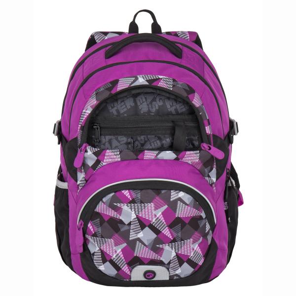 fd3562cbcba Bagmaster školní batoh pro třetí třídu - a THEORY 7 A PINK GREY ...