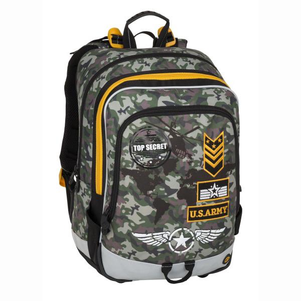 Bagmaster tříkomorový školní batoh ALFA pro prvňáčky  deb44eb3b2