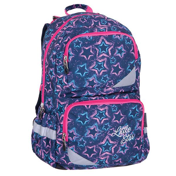 b8127b2f37 Pulse školní anatomický batoh XL modrý s hvězdami