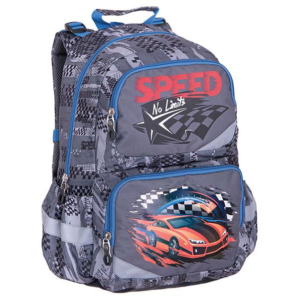 Pulse školní anatomický batoh Závodní auto  1e28f74025